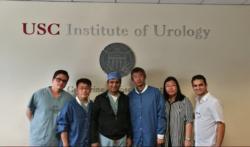 El Dr. JM Peralta en su rotación en el USC Institute of Urology de Los Angeles (1-2,2017)