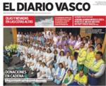 Portada Diario Vasco que muestra al gran grupo humano que trabaja en el Programa de Donación de órg