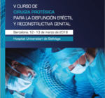 Cartel del Vº Curso de Cirugía Protésica. Bellvitge (Barcelona)