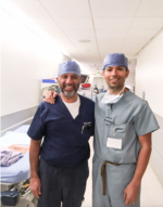 El Dr. V Rubio con el Dr. I Gill en su rotación Ene-Feb 2018
