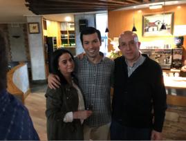 Con Cristina y Juan Pablo