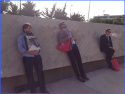 Un momento de descanso en el Congreso de la AEU de Salamanca 2.015