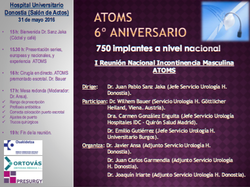 Atoms 6º Aniversario. Iª Reunión Nacional Incontinencia Urinaria Masculina ATOMS
